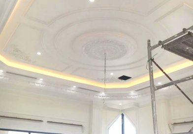 Hoàn thiện trần thạch cao phòng khách, phòng ngủ chung cư đẹp tại Hà Nội