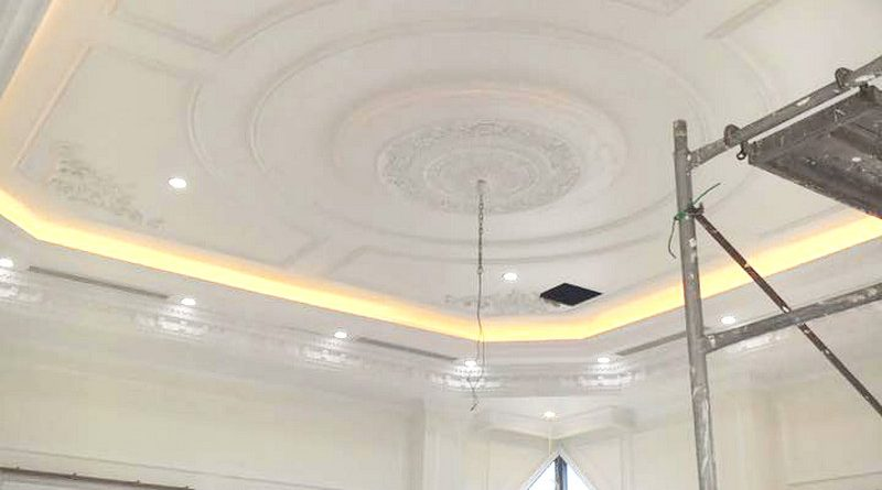 Trần thạch cao chung cư đẹp được thi công bởi AZ tại nhà anh Kiện, Hà Đông, Hà Nội - 05