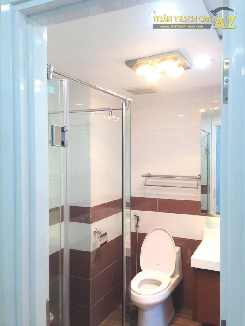 Thiết kế trần thạch cao phòng tắm cực đẹp