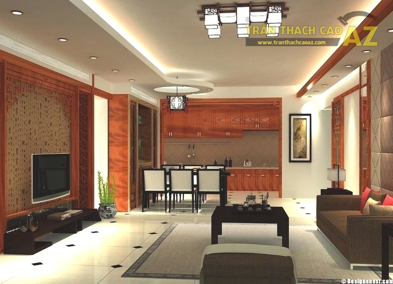 23 mẫu trần thạch cao phòng khách nhỏ hiện đại đẹp mê ly - 01