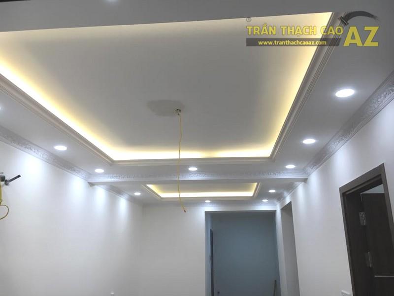 Làm trần thạch cao phòng khách nhà ống tại Hà Đông, Hà Nội nhà anh Hợp - 01