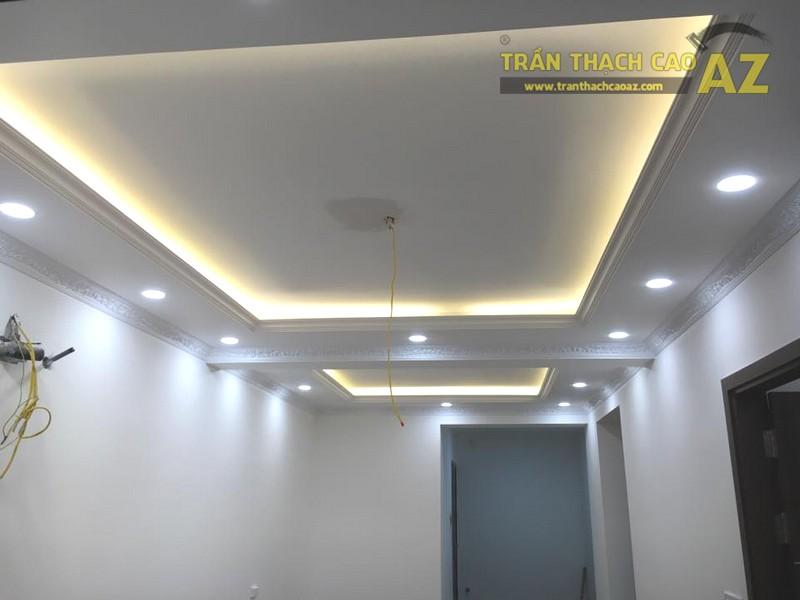 Làm trần thạch cao phòng khách nhà ống tại Hà Đông, Hà Nội nhà anh Hợp - 02