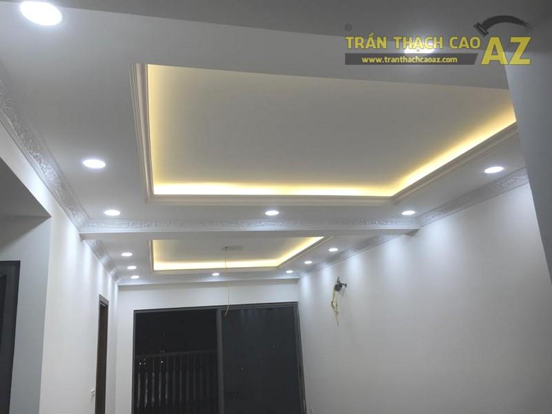 Làm trần thạch cao phòng khách nhà ống tại Hà Đông, Hà Nội nhà anh Hợp - 03