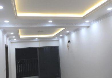 Làm trần thạch cao phòng khách nhà ống tại Hà Đông, Hà Nội nhà anh Hợp