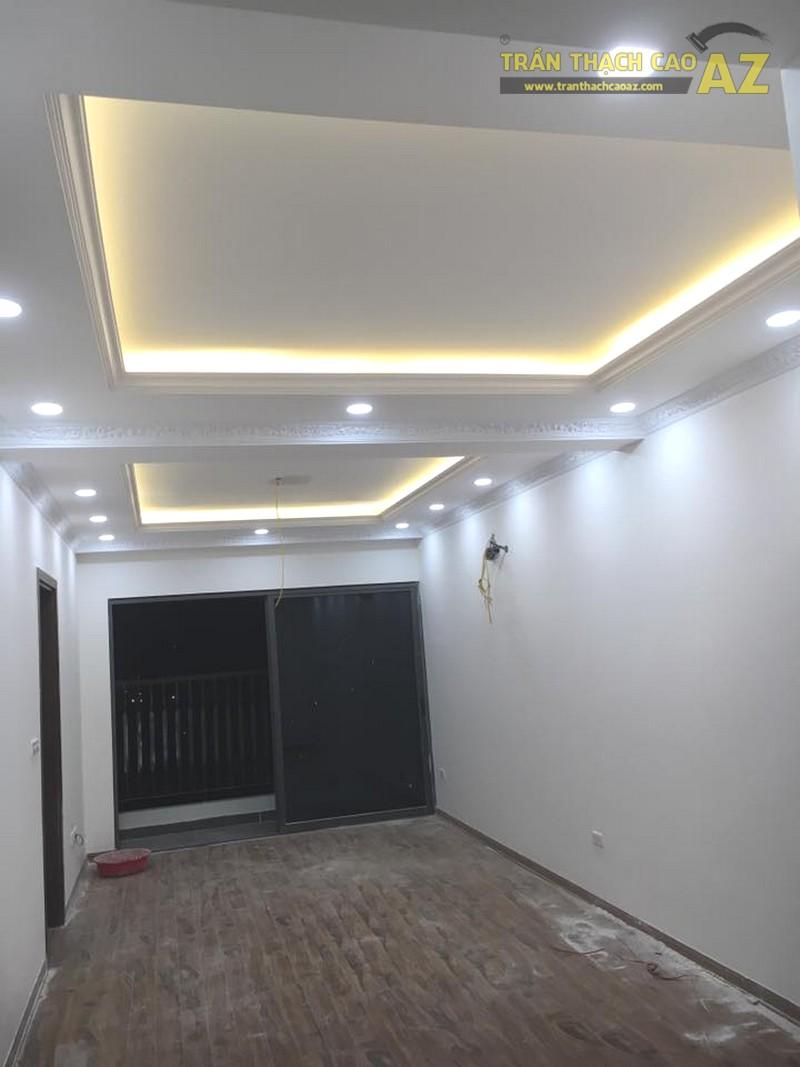 Làm trần thạch cao phòng khách nhà ống tại Hà Đông, Hà Nội nhà anh Hợp - 04