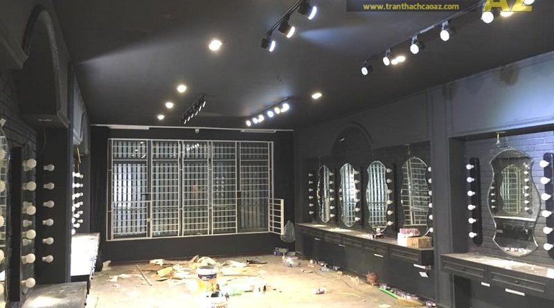 Làm trần thạch cao màu đen cá tính cho salon tóc Hoàng Oanh, Cầu giấy, Hà Nội - 04