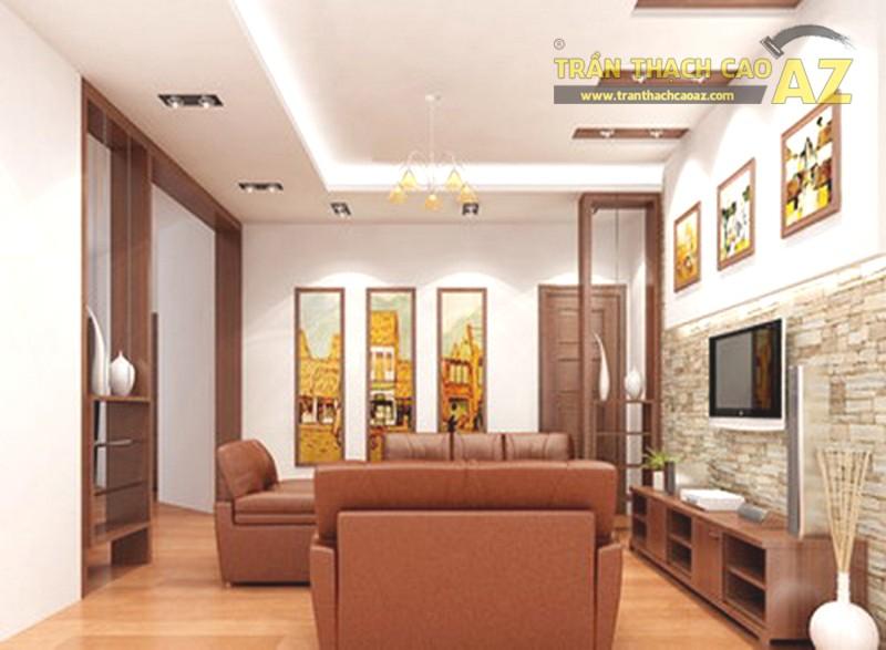 Trần thạch cao phòng khách nhỏ hiện đại