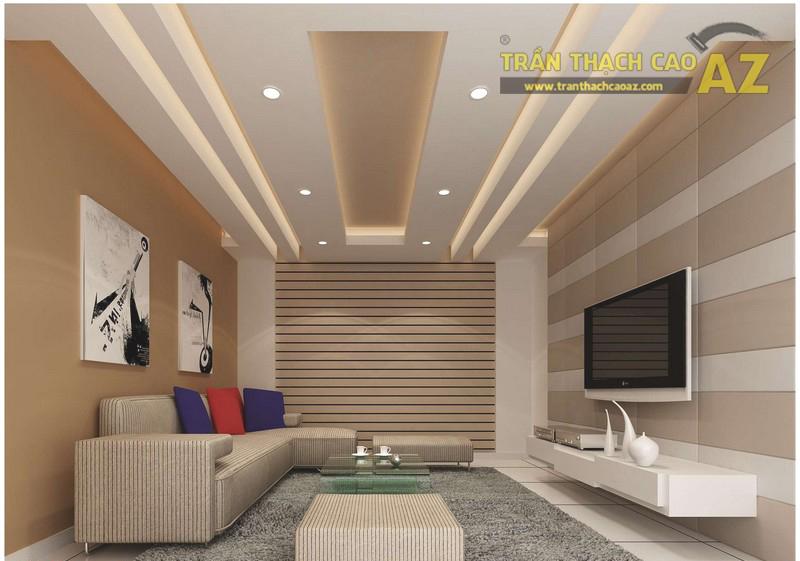 Mẫu trần thạch cao phòng khách nhà ống đẹp, hợp phong thủy - 03