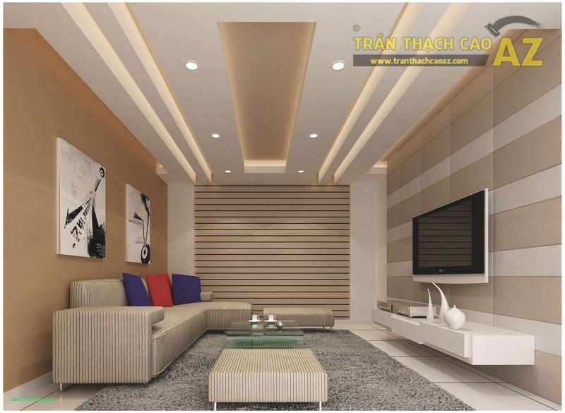 Mẫu trần thạch cao hiện đại cho phòng khách nhỏ - 01