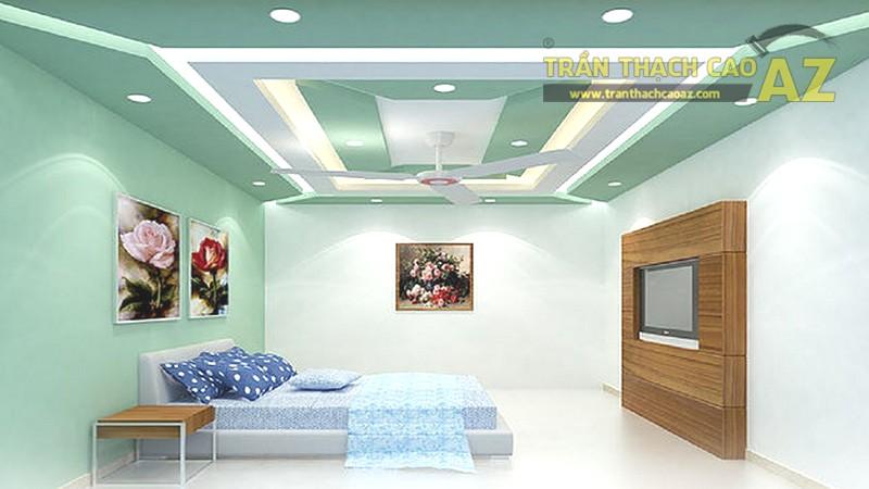 Trần thạch cao phòng ngủ nhà ống đẹp, tốt cho phong thủy - 04