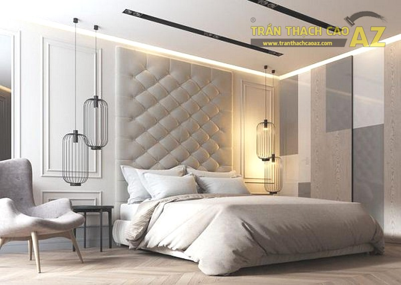 Trần thạch cao phòng ngủ nhà ống đẹp, tốt cho phong thủy