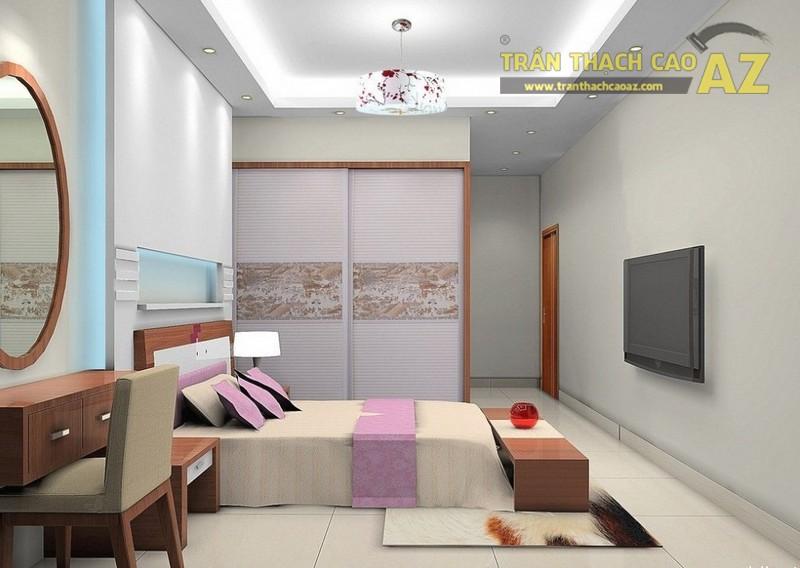Trần thạch cao phòng ngủ nhà ống đẹp, tốt cho phong thủy - 01