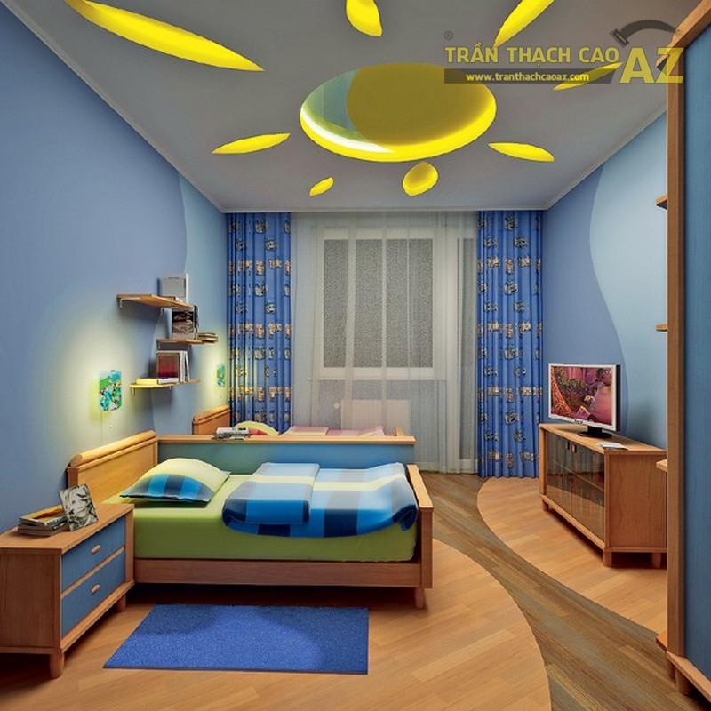 Trần thạch cao phòng ngủ nhà ống đẹp cho bé - 01