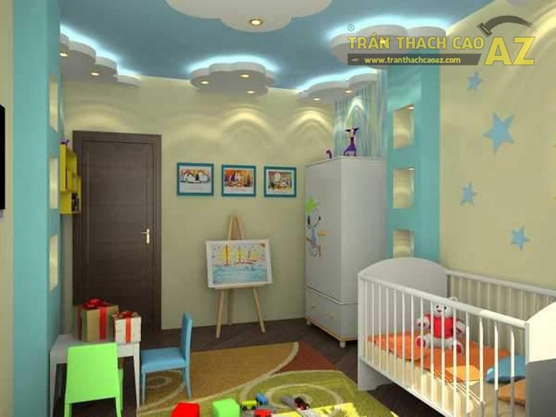 Trần thạch cao phòng ngủ nhà ống đẹp cho bé - 03