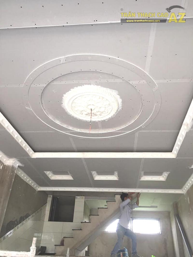 Thi công trần thạch cao quán karaoke đẹp tại Long Biên, Hà Nội nhà anh Hòa - 01