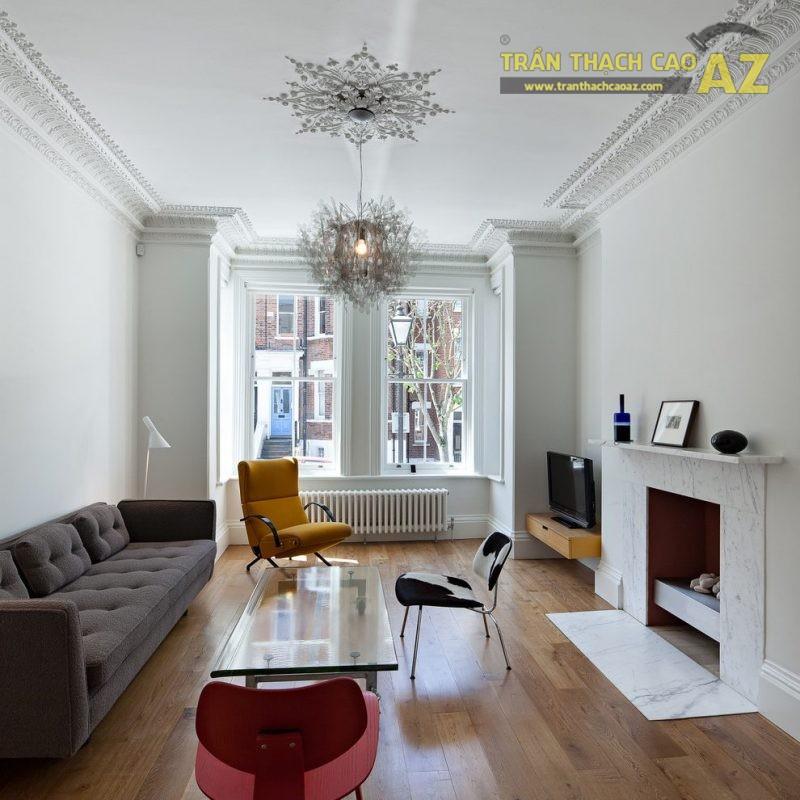Mẫu trần thạch cao phòng khách hiện đại - Trần phẳng đẹp nhất 2020 - 04