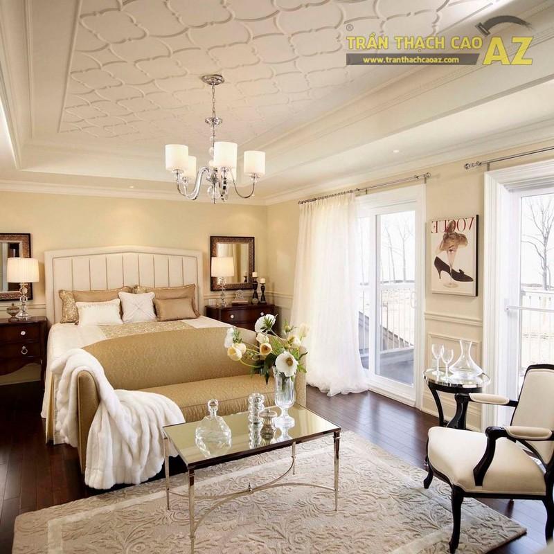 Mẫu trần thạch cao phòng khách đẹp 2020 - 03