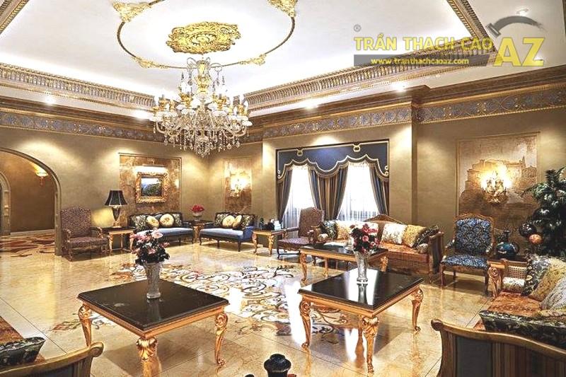 Mẫu trần thạch cao phòng khách đẹp 2020 - 08