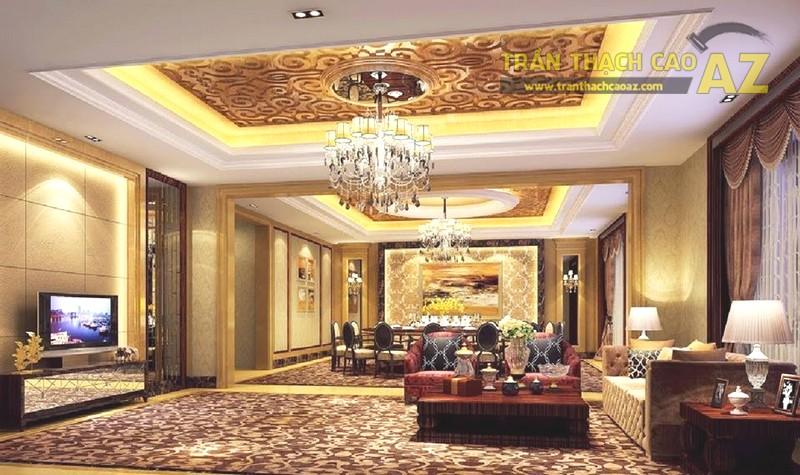 Mẫu trần thạch cao phòng khách đẹp 2020 - 07