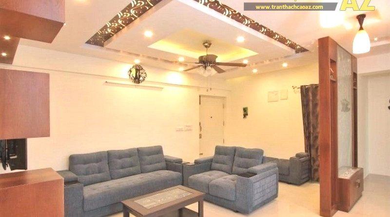 Mẫu trần thạch cao phòng khách chung cư - 02