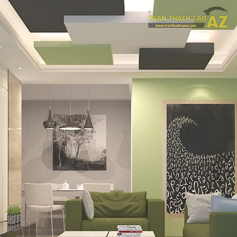 Mẫu trần thạch cao phòng khách nhỏ hiện đại - 04