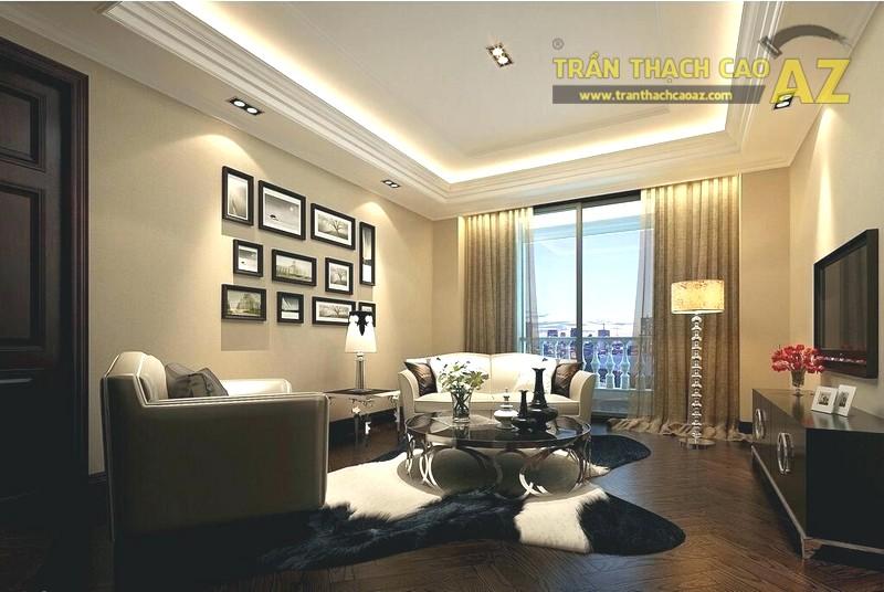 Mẫu trần thạch cao phòng khách nhỏ hiện đại - 01