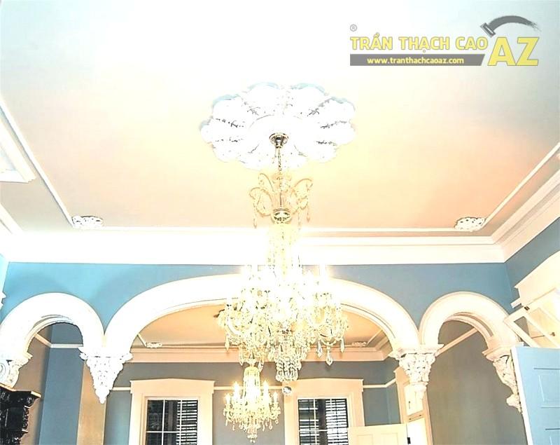 Mẫu trần thạch cao phòng khách hiện đại - Trần phẳng đẹp nhất 2020 - 01