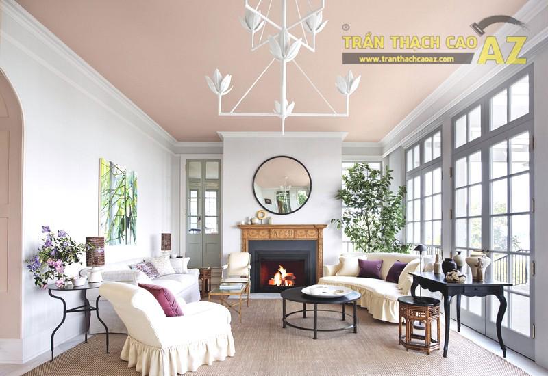 Mẫu trần thạch cao phòng khách hiện đại - Trần phẳng đẹp nhất 2020 - 02