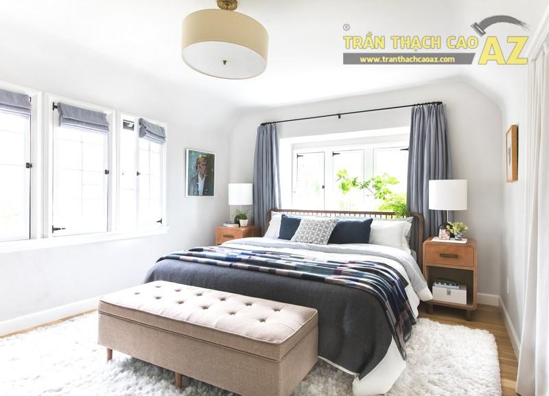 Mẫu trần thạch cao phòng ngủ chung cư - 02