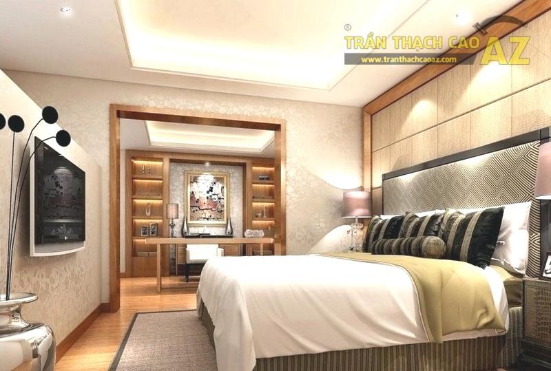 Mẫu trần thạch cao phòng ngủ chung cư - 03